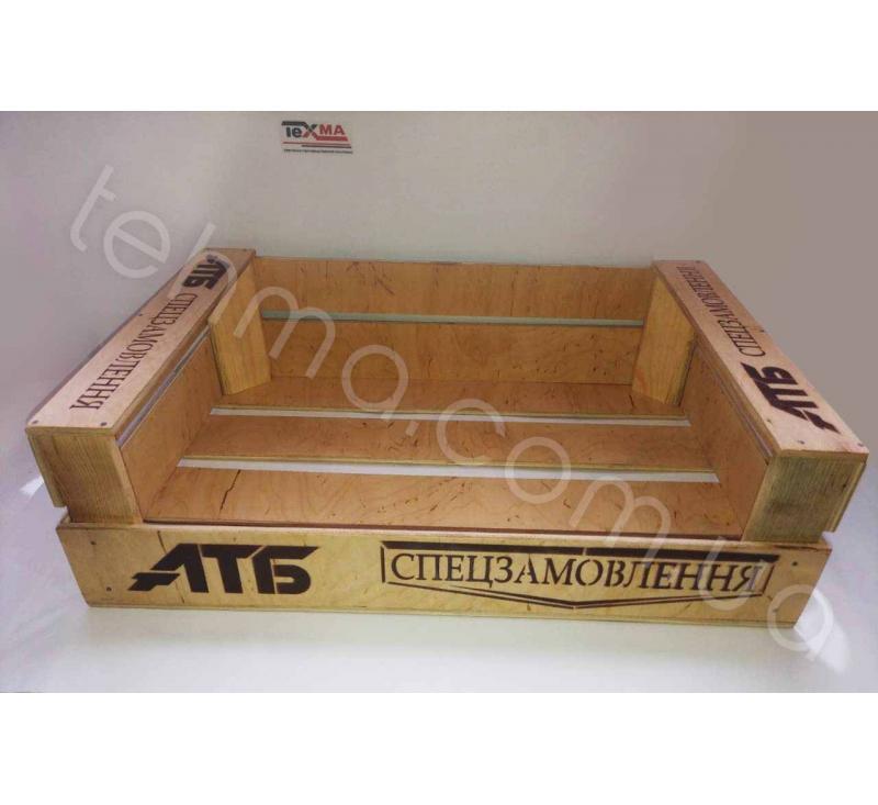 Изготовление ящиков для продукции сети супермаркетов АТБ