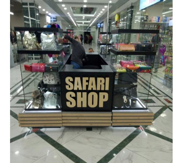 """Вывеска из фанеры для магазина """"Safari Shop"""""""