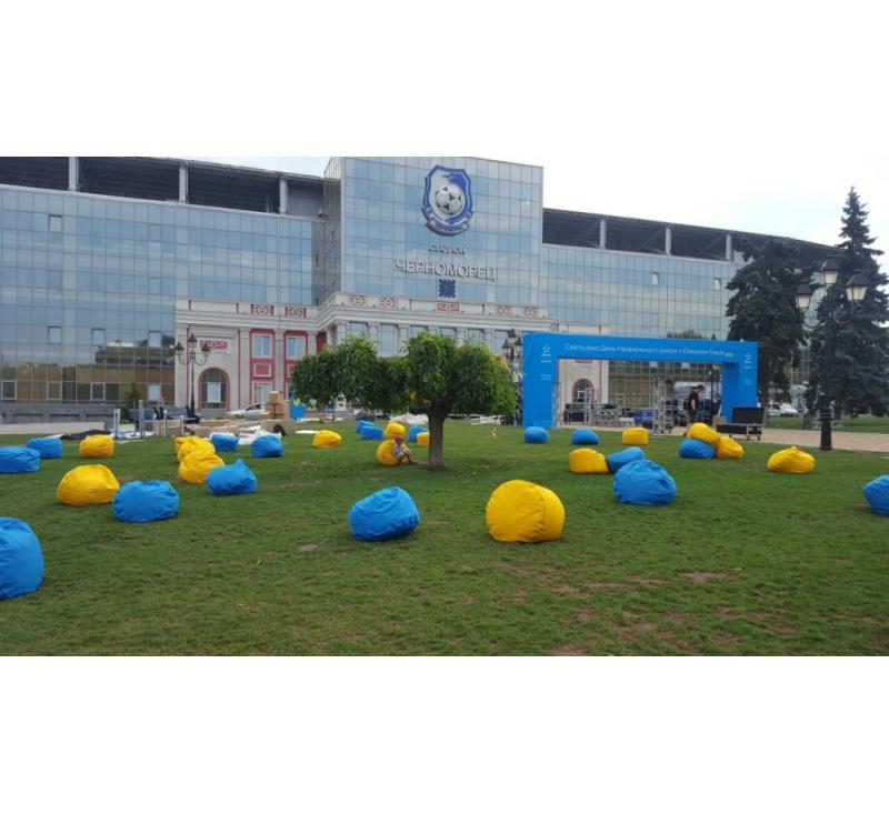 Брендирование арки на стадионе Черноморец