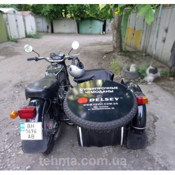Брендирование транспорта для компании DelseyНа мотоцикл установили табличку из композита оклеенную п..