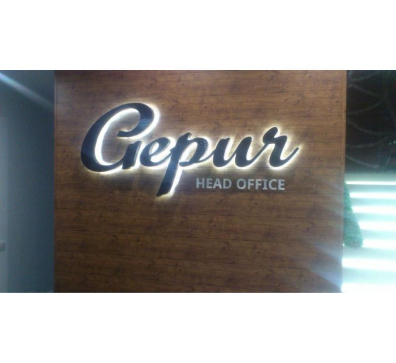 Объемные световые буквы Gepur
