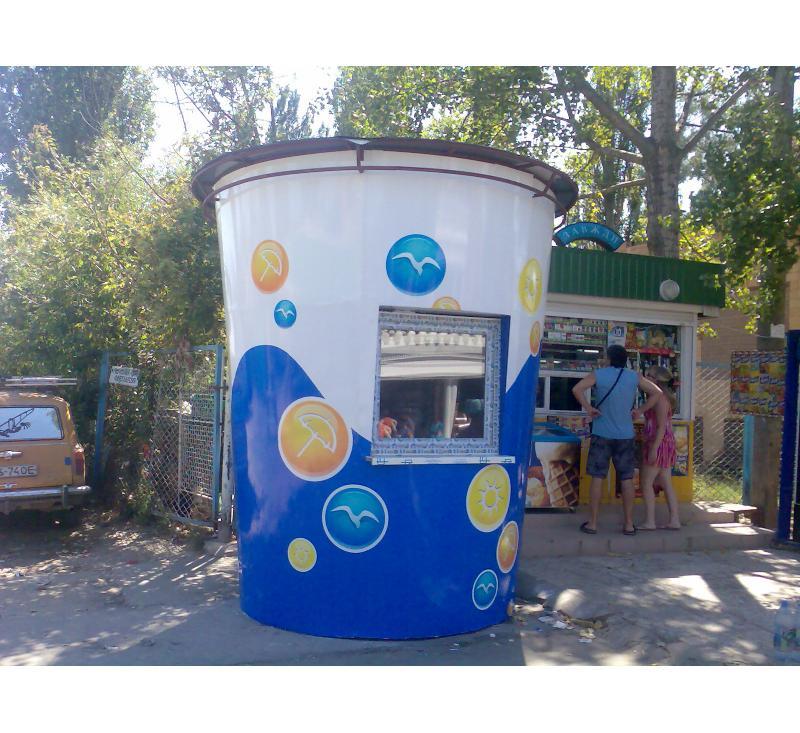 Брендирование киоска в Одессе