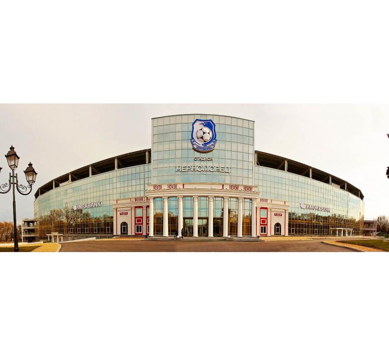 Изготовление и монтаж объемной вывески для ФК Черноморец