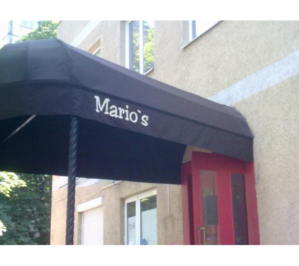 Маркизы для пиццерии Марио