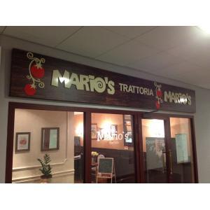 Композитная вывеска Марио. Основа композит + псевдообъмные акриловые буквы...