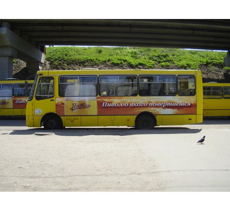 """Реклама на маршрутке для """"Янтарь"""""""
