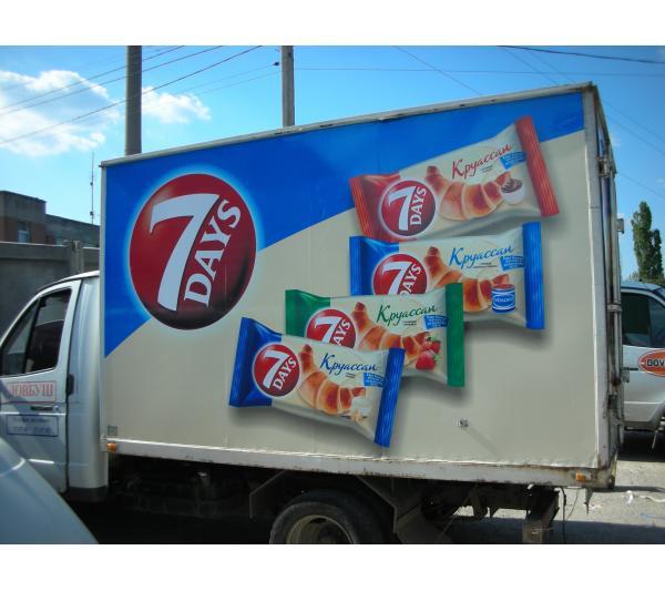 Реклама на авто для 7days