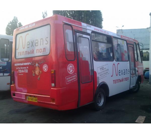 Реклама на маршрутке для Nexans