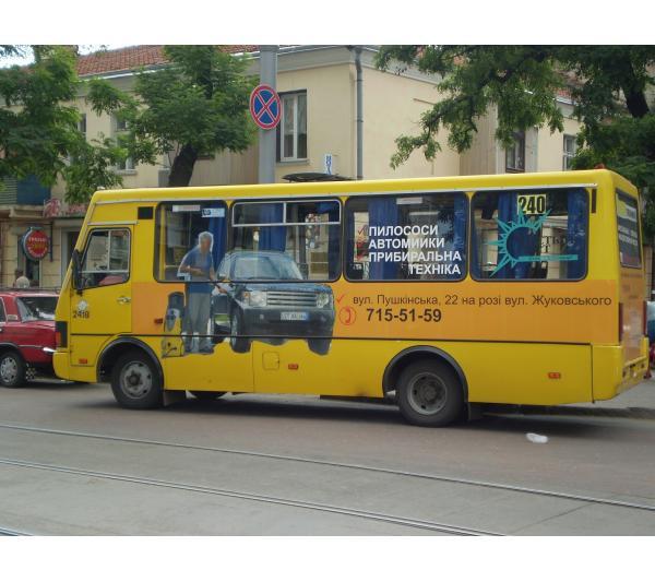 Реклама на маршрутках для наших клиентов