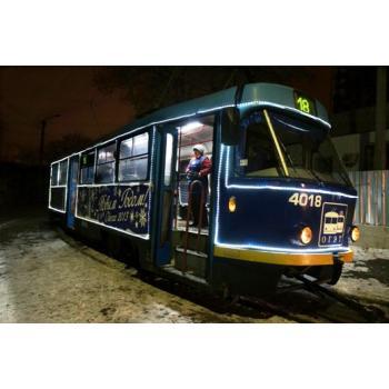 Новогодний трамвай..