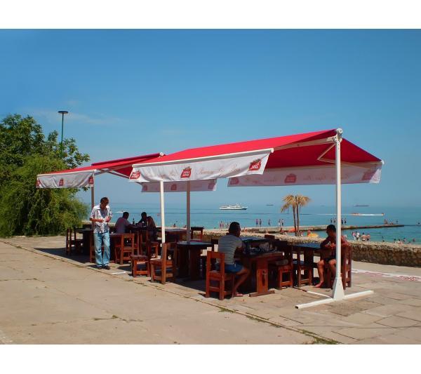 Маркиз для кафе у моря