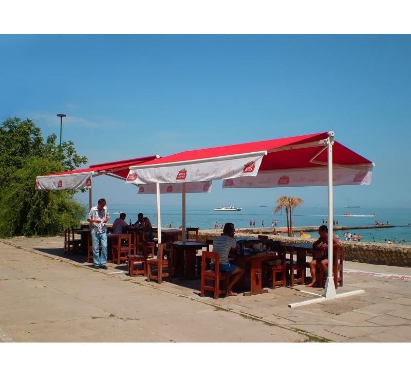 Маркиза для кафе у моря