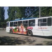 Реклама на троллейбусах для Щирий Кум