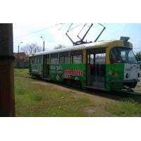 Реклама на трамвае для компании Викра
