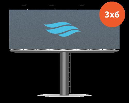 Баннер 3 x 6 м Frontlit ламинированный с изображением 720 dpi (цена за шт)