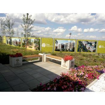 Монтаж банеров в Совиньоне для строительной фирмы